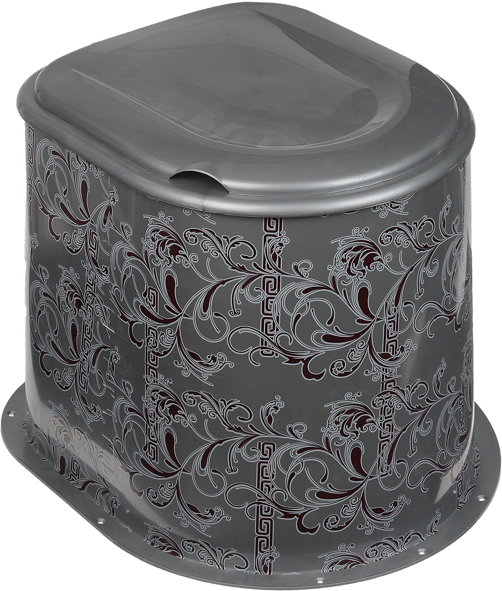 """Дачный туалет Альтернатива """"Люкс"""" выполнен из  пластика и украшен оригинальным узором. Туалет не  имеет дна,  поэтому будет удобен для монтажа на яму. Удобен в  использовании на дачному участке. Оснащен  съемным сиденьем с крышкой. В комплекте: - стойка, - сиденье с крышкой, Размер (без сиденья): 47 х 41 х 36 см. Размер сиденья (с крышкой): 40 х 35 х 6,5 см."""