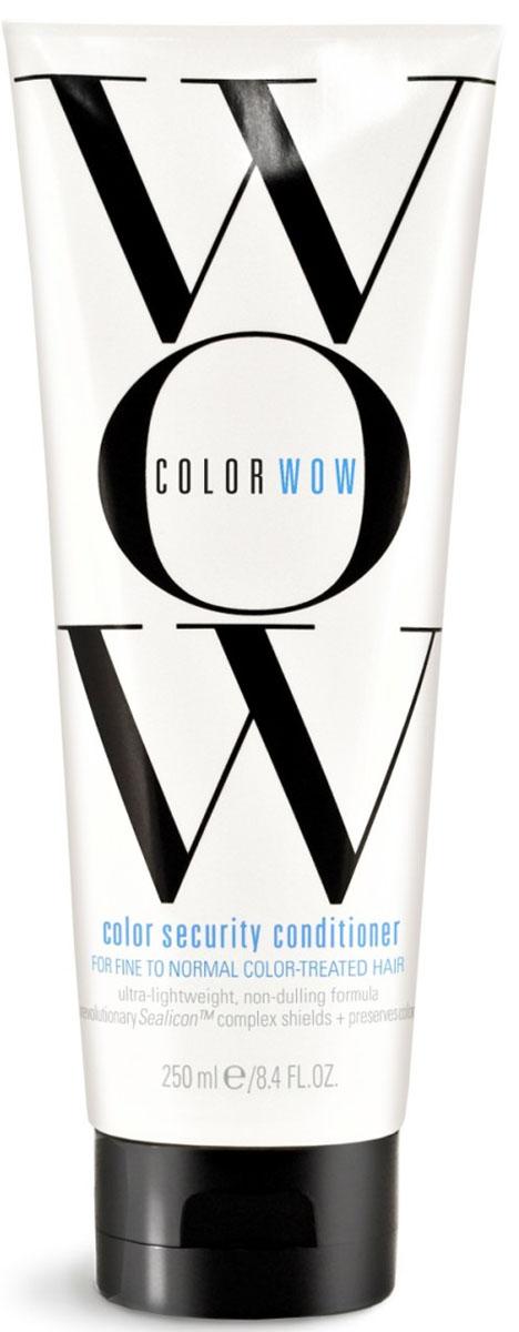COLOR WOW Кондиционер Защита цвета для окрашенных, нормальных и тонких волос, 250 млCW511Кондиционер интенсивно защищает и восстанавливает окрашенные волосы. Специальная технология Aquamino Emulsion ™ обеспечивает превосходное увлажнение, помогая вернуть волосам эластичность, гладкость и здоровый внешний вид. Защитный комплекс формирует прозрачную оболочку на волосах для ослепительного, глянцевого сияния, предотвращая вымывание цвета.