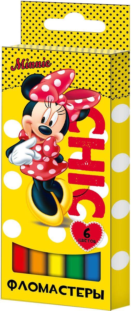 Disney Набор фломастеров Минни 6 цветов29006Набор фломастеров Disney Минни поможет вашему ребенку создать неповторимые яркие картинки, а упаковка с любимой героиней будет долгое время радовать малышку.Фломастеры снабжены вентилируемыми колпачками, безопасными для детей. Изготовлены из материала, обеспечивающего прочность корпуса и препятствующего испарению чернил, благодаря этому фломастеры имеют гарантированно долгий срок службы: корпус не ломается, даже если согнуть фломастер пополам.