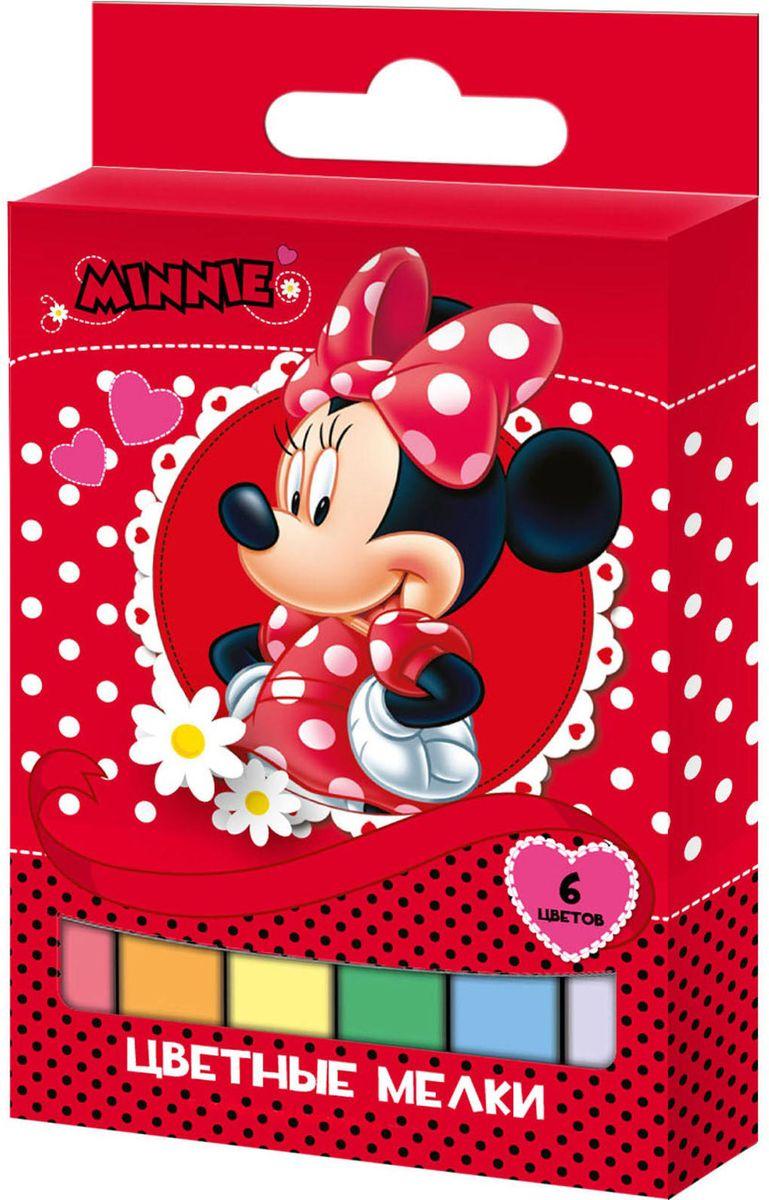 Disney Мелки Минни 6 цветов29088Набор цветных мелков Disney Минни поможет детям создавать яркие большие картины на асфальте и других шероховатых поверхностях, развивая при этом творческие способности, воображение, цветовосприятие и моторику рук. В набор входит 6 цветных мелков с удобным квадратным сечением. Мелки имеют яркие цвета, прочны, устойчивы к стиранию, не крошатся в руках.