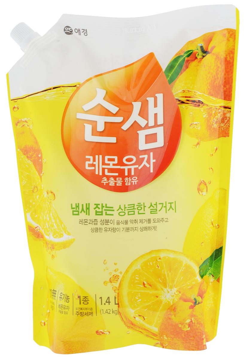 Средство для мытья посуды Soonsaem Lemon & Yuzu, 1,4 л средство для мытья посуды soonsaem ягоды 350 мл