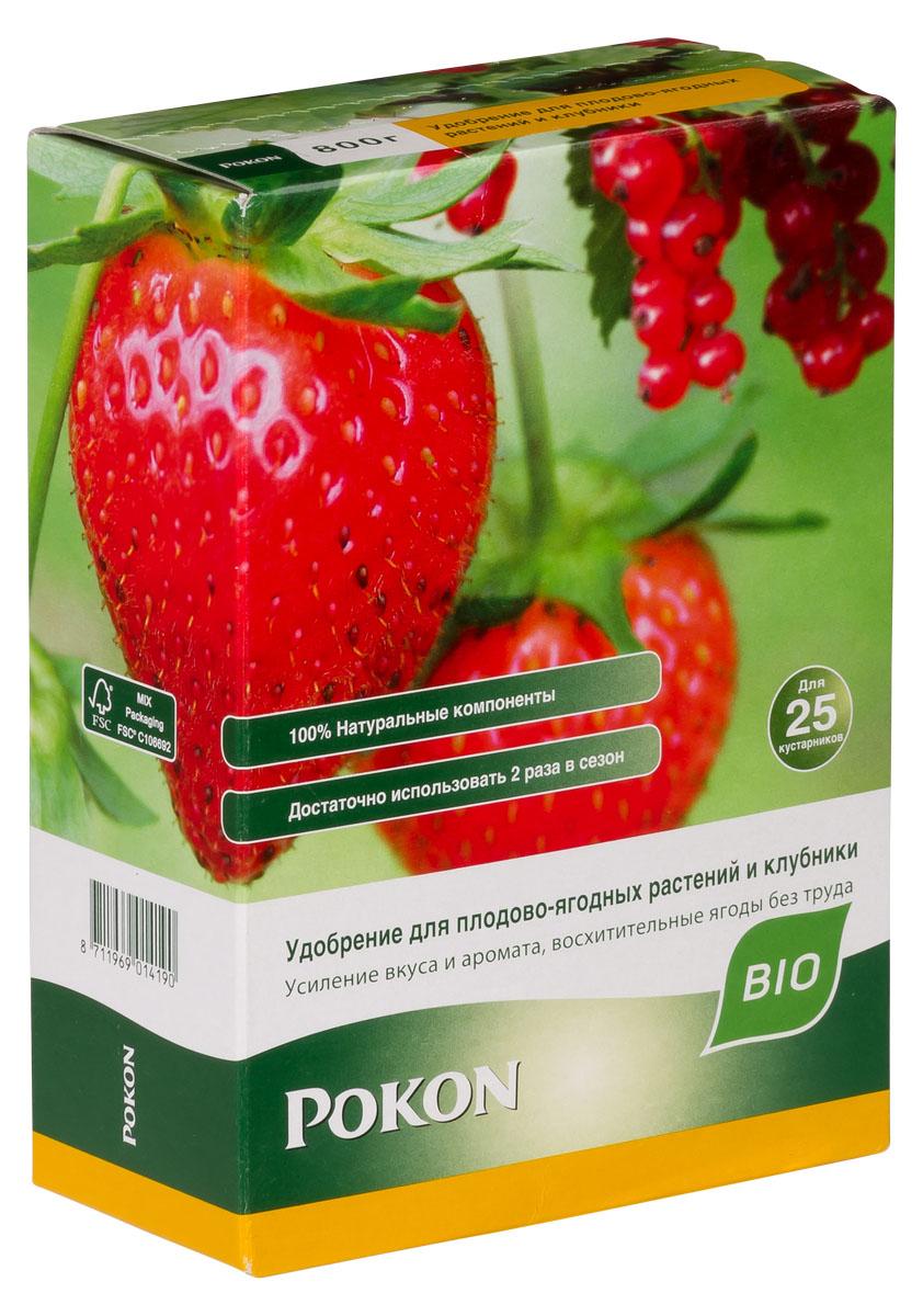 Удобрение Pokon, длительного действия, для ягодных кустов и клубники, 800 г взрослое