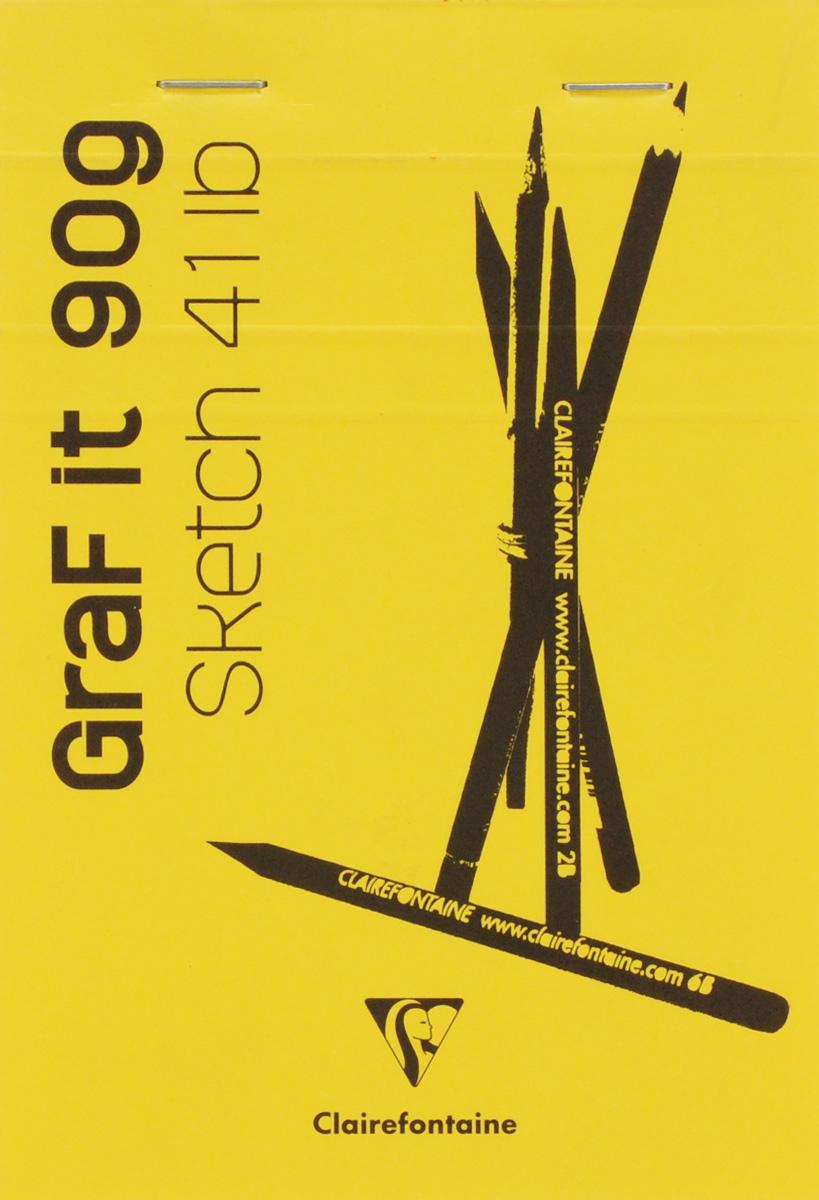 Clairefontaine Блокнот для рисования Graft It 80 листов цвет желтый96619С_желтыйClairefontaine - французская компания, выпускающая канцелярские товары, тетради и блокноты с 1858 года.Блокнот Clairefontaine Graft It идеален для рисования, эскизов или заметок. Внутренний блок состоит из 80 листов белоснежной бумаги, скрепленных металлическими скрепками. Обложка выполнена из плотного картона.