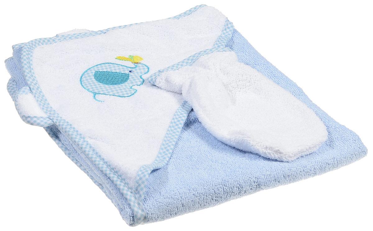 Фея Комплект для купания Слоник цвет голубой 2 предмета фея подставка для купания гамак цвет в ассортименте