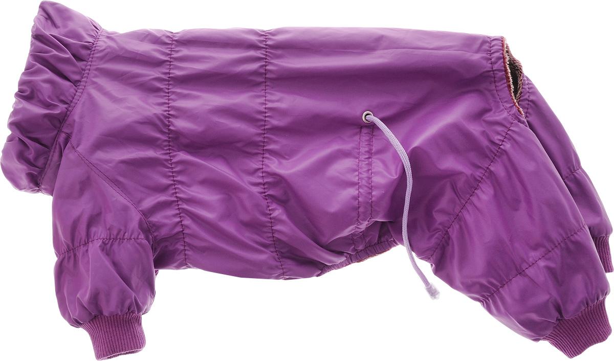 Комбинезон для собак Yoriki Весенний, унисекс. Размер L185-3Комбинезон для собак Yoriki Весенний отлично подойдет для прогулок в прохладную погоду. Верх комбинезона выполнен из водоотталкивающего полиэстера. Подкладка изготовлена из мягкой вискозы. Низ рукавов и брючин оснащен широкими стильными манжетами. Застегивается комбинезон на животе на кнопки и дополнительно на пояснице затягивается шнурком. Благодаря такому комбинезону вашему питомцу будет комфортно наслаждаться прогулкой.Длина по спинке: 28 см. Обхват шеи: 28 см. Одежда для собак: нужна ли она и как её выбрать. Статья OZON Гид