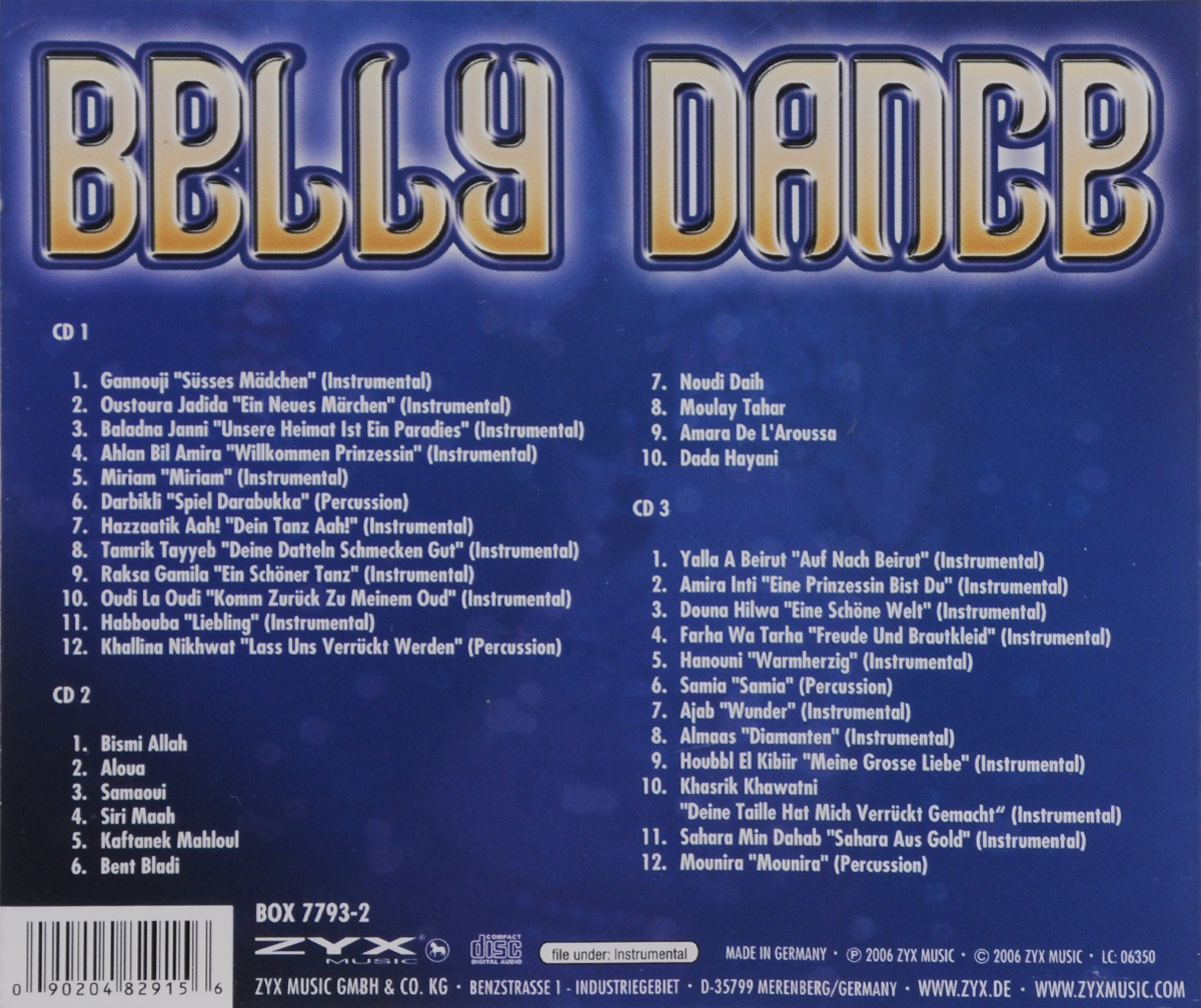 Belly Dance (3 CD) ZYX Music,Волтэкс-инвест