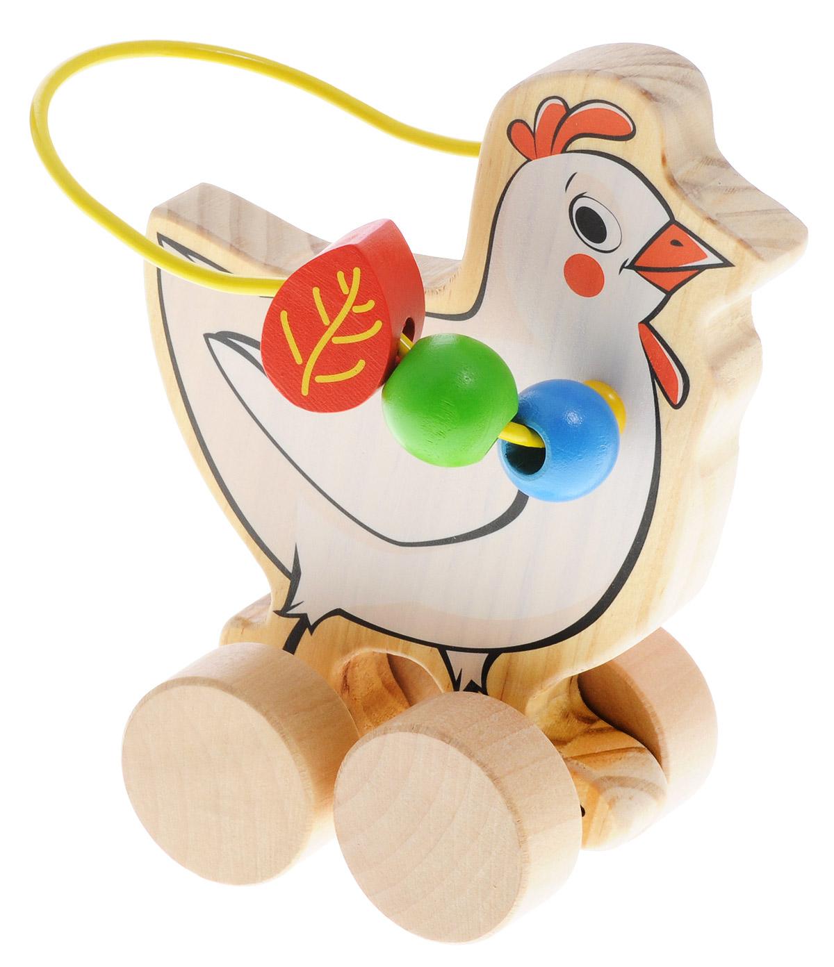 Мир деревянных игрушек Лабиринт-каталка Курица мир деревянных игрушек конструктор каталка полиция