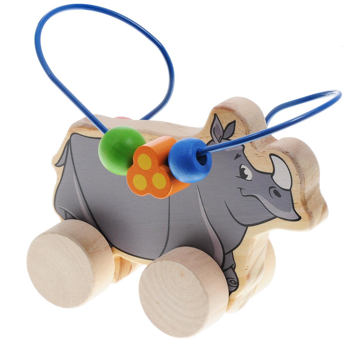 Мир деревянных игрушек Лабиринт-каталка Носорог