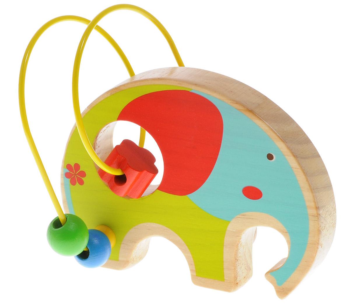 Мир деревянных игрушек Лабиринт Слон игрушка мир деревянных игрушек лабиринт каталка слон д368