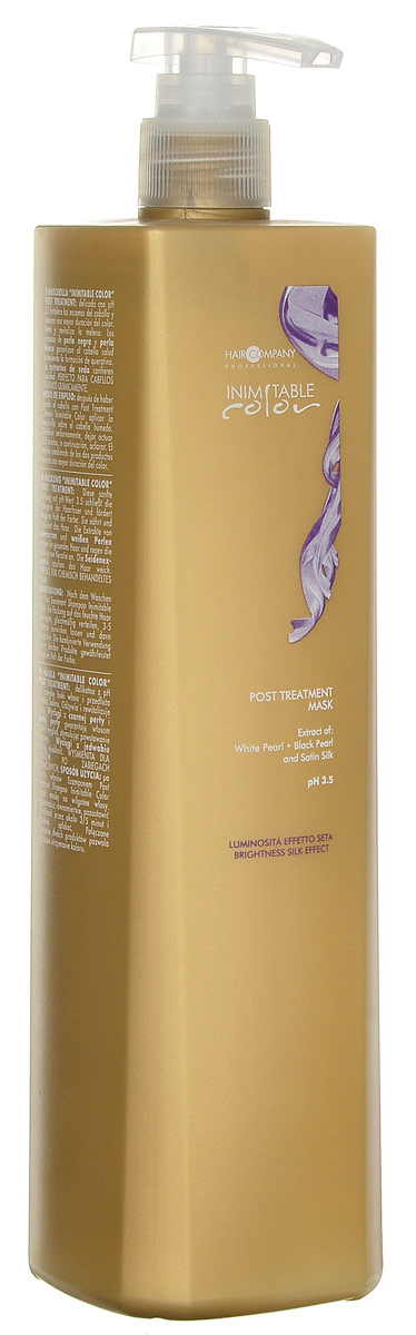 Hair Company Маска стабилизирующая Professional Inimitable Color Post Treatment Mask 1000 мл недорого