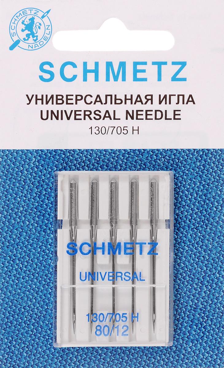 Набор игл Schmetz, №80, 5 шт иглы для швейных машин schmetz для джинсовой ткани 90 110 5 шт