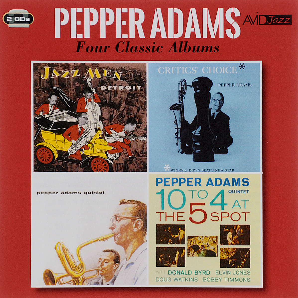 Пеппер Адамс Avid Jazz. Pepper Adams. Four Classic Albums (2 CD) велосипедные тормоза sram avid sram 1 e1 db1 sram avid elixir 1 e1