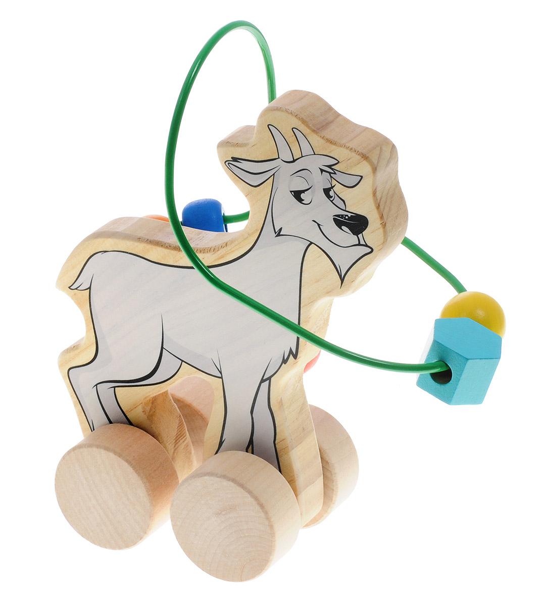 Мир деревянных игрушек Лабиринт-каталка Козел мир деревянных игрушек лабиринт каталка козел