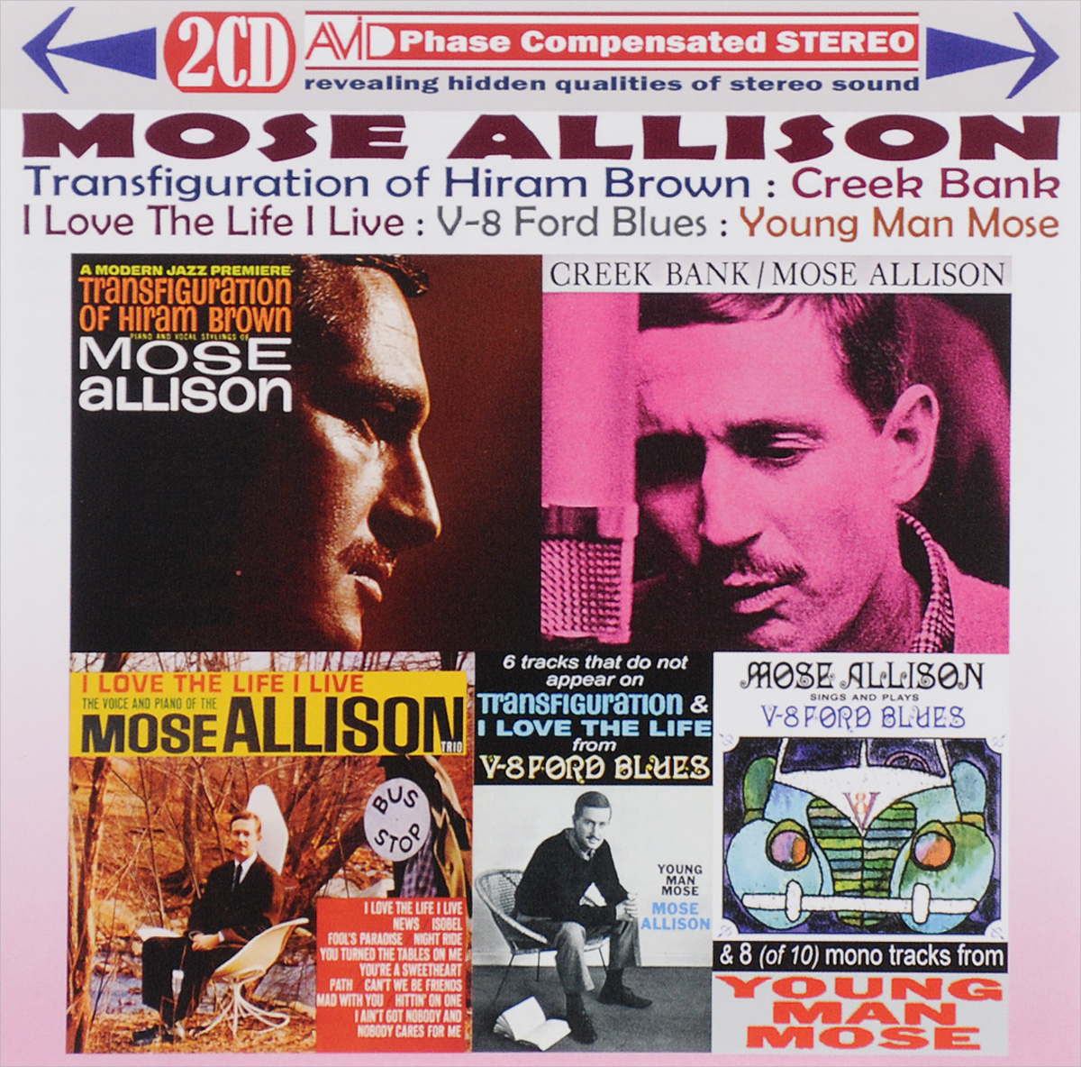 Моуз Эллисон Mose Allison. Transfiguration Of Hiram Brown / Creek Bank / I Love The Life I Live / V-8 Ford Blues / Young Man Mose (2 CD) avid avid pro tools instrument expansion pack