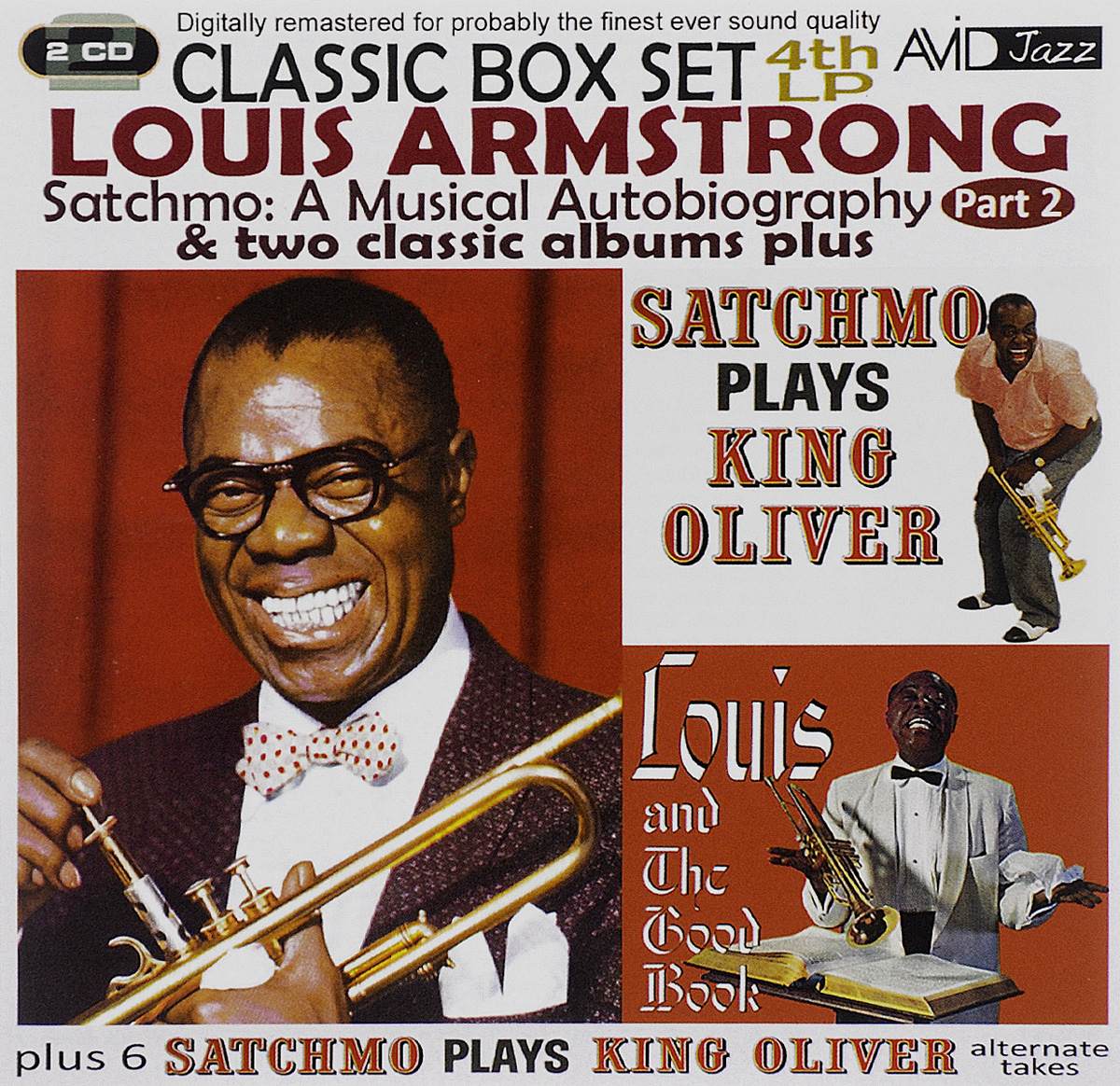 Луи Армстронг Avid Jazz. Louis Armstrong. Satchmo. A Musical Autobiography. Part 2. 6 Satchmo Plays King Oliver. Alternate Takes (2 CD) велосипедные тормоза sram avid sram 1 e1 db1 sram avid elixir 1 e1