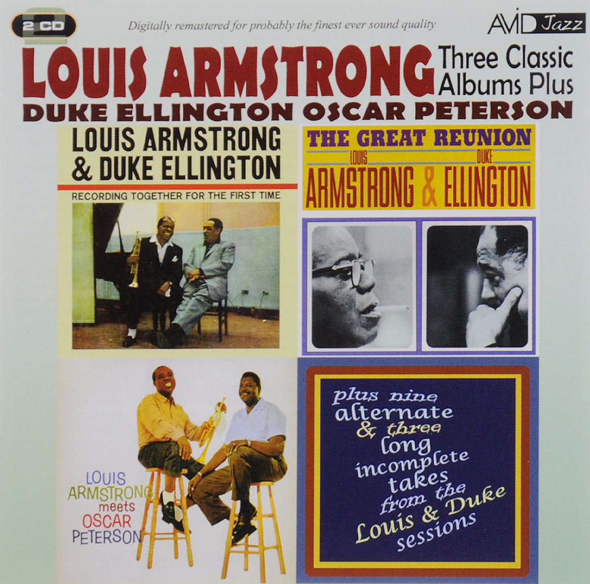 цена на Луи Армстронг,Дюк Эллингтон,Оскар Питерсон Avid Jazz. Louis Armstrong, Duke Ellington, Oscar Peterson. Three Classic Albums (2 CD)