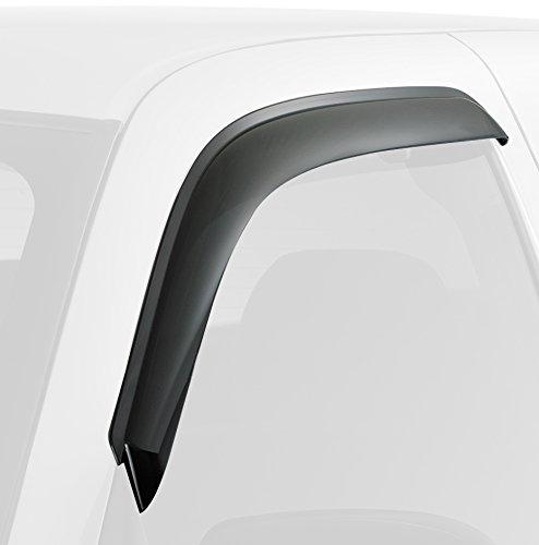 Дефлекторы окон SkyLine, для Mitsubishi L200/Triton/Strada 1999-2006, 4 штSL-WV-140Дефлекторы SkyLine выполнены из акрила - гибкого и прочного материала. Устойчивы к механическому воздействию и УФ излучению. Эксплуатация без сколов и трещин.Надежная фиксация, благодаря профессиональному скотчу 3М с высокой адгезией. Отсутствие шума при эксплуатации. Проверенная аэродинамическая форма дефлектора позволяет использовать его без посторонних звуков даже на высоких скоростях. Рекомендации по использованию:- Для правильной установки производитель рекомендует ознакомиться с инструкцией по установке. Правильная подготовка и монтаж дефлекторов позволит обеспечить максимально надежную фиксацию.- Каждый дефлектор упакован в защитную пленку, гарантирующую отсутствие пыли и царапин. Перед установкой обязательно снимите защитную пленку.В наборе 4 штуки.