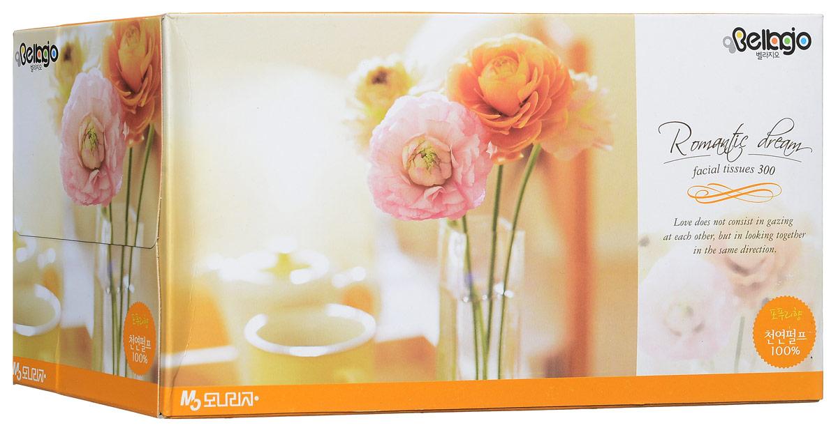 Monalisa Салфетки для лица Bellagio цвет оранжевый 300 шт2354