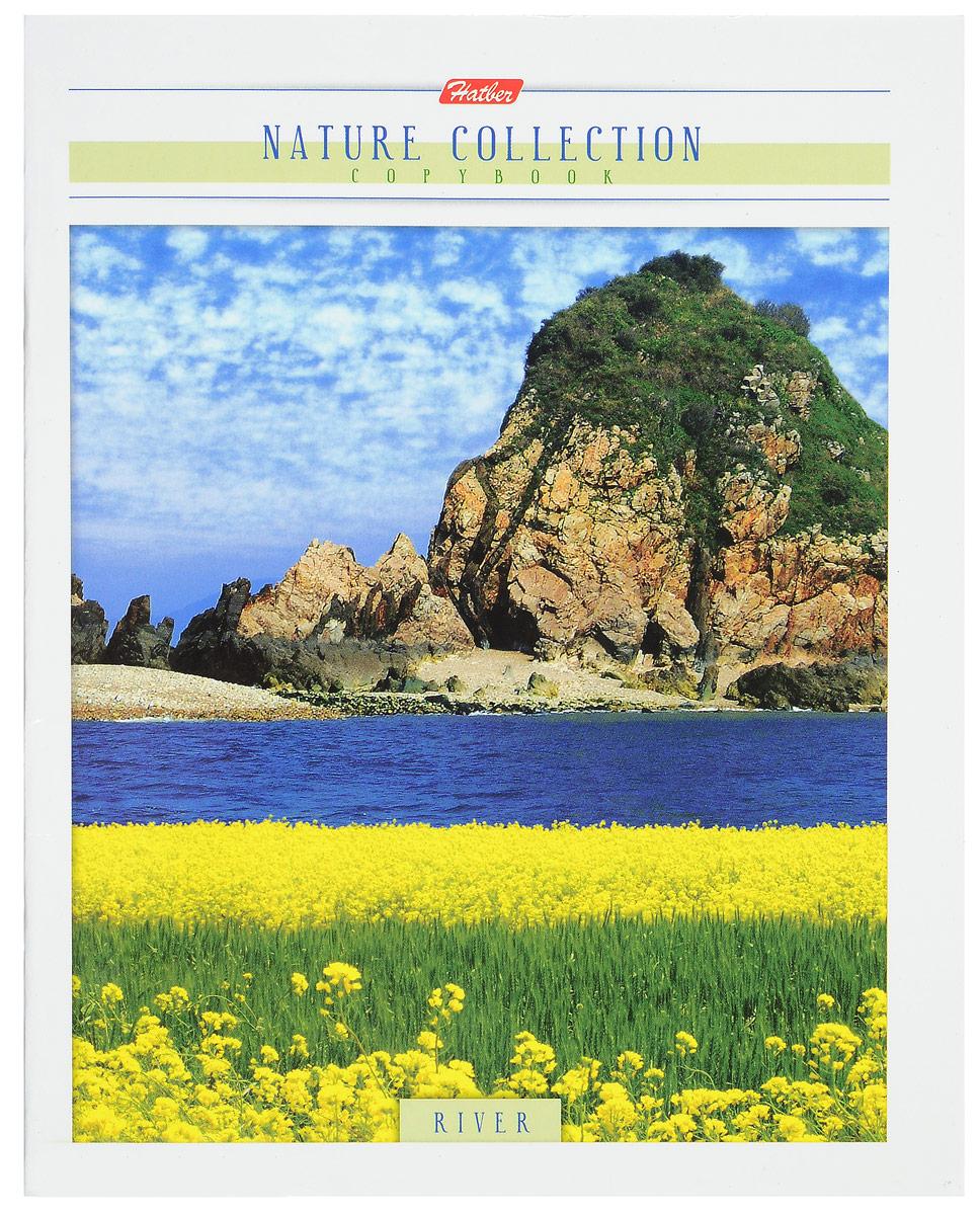 Hatber Тетрадь River 80 листов в клетку цвет темно-синий желтый зеленый7-100-869_зеленыйТетрадь Hatber River отлично подойдет для занятий школьнику, студенту или для различных записей.Обложка, выполненная из плотного картона, украшена завораживающим пейзажем. Изображение передает всю роскошь естественной природы, наполнено чувством уюта и гармонии.Внутренний блок тетради, соединенный двумя металлическими скрепками, состоит из 80 листов белой бумаги в голубую клетку с полями.
