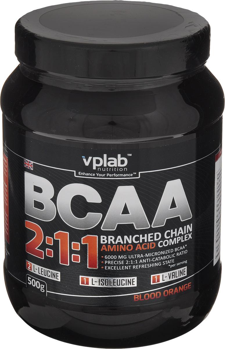Аминокислотный комплекс Vplab BCAA 2:1:1, красный апельсин, 500 г аминокислотный комплекс vplab bcaa 2 1 1 красный апельсин 500 г