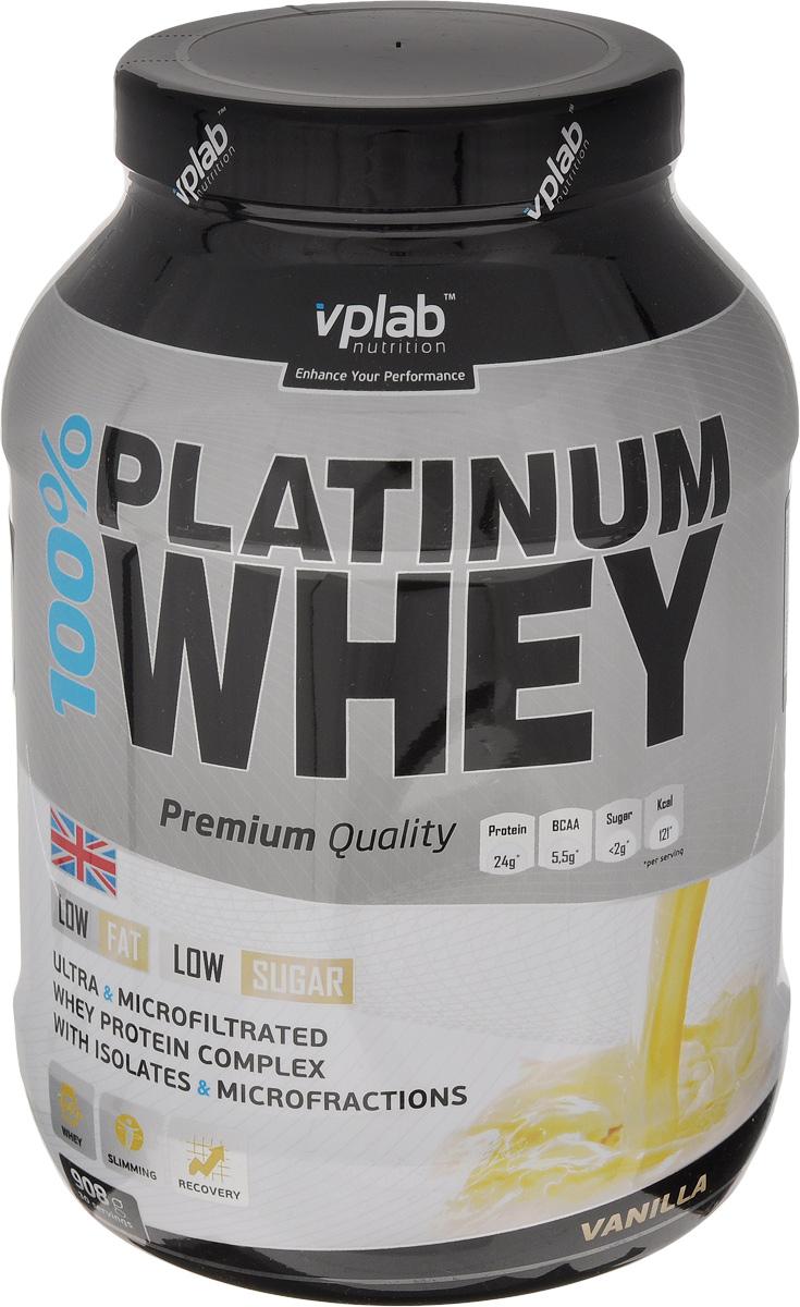Протеин Vplab 100% Platinum Whey, ваниль, 908 гV5203Протеин Vplab 100% Platinum Whey произведен при использовании самых передовых технологий и соответствует всем мировым стандартам качества. Это уникальный продукт, в котором впервые сочетаются сывороточный протеин премиум класса и великолепный вкус.Основные особенности 100% Platinum Whey: - превосходная комбинация микрофильтрованного изолята и ультрафильтрованного концентрата 100% сывороточного протеина; - великолепный освежающий вкус, даже при приготовлении на воде; - высокое содержание незаменимых аминокислот и ВСАА; - максимально быстрое усвоение питательных веществ; - низкое содержание жиров и сахара.Кроме того, 100% Platinum Whey имеет наивысшую биологическую ценность, предельно быстро активизирует и усиливает метаболизм мышц, помогает поддерживать чистую мышечную массу. Благодаря своим исключительным качествам, 100% Platinum Whey - это новый стандарт для сывороточных протеинов.Рекомендации по применению: 1 порция в день. В дни тренировки желательно использовать после тренировки.Рекомендации по приготовлению: смешать 30 г порошка (2 мерные ложки) с 225 мл воды. Товар сертифицирован. Как повысить эффективность тренировок с помощью спортивного питания? Статья OZON Гид