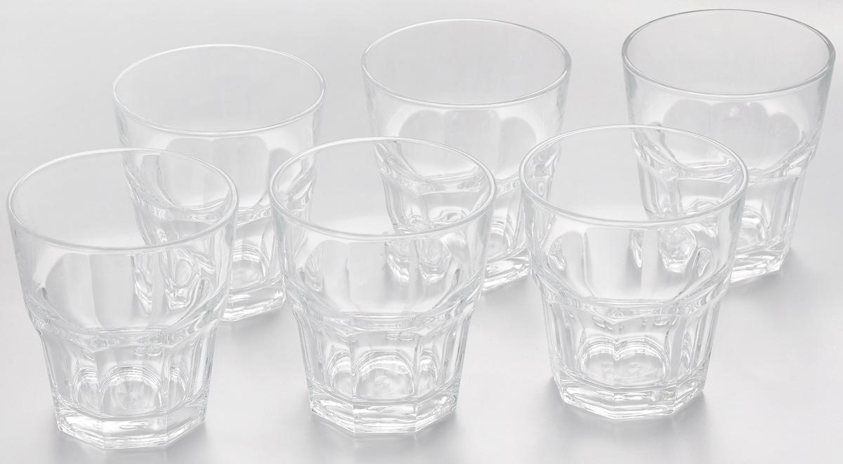 Набор стаканов Pasabahce Casablanca, 265 мл, 6 шт52705BTНабор Pasabahce Casablanca состоит из шести стаканов, выполненных из закаленного натрий-кальций-силикатного стекла. Изделия имеют многогранную рельефную поверхность и сочетают в себе элегантный дизайн и функциональность. Такие стаканы подойдут для подачи воды, сока и других напитков со льдом. Набор стаканов Pasabahce Casablanca идеально подойдет для сервировки стола и станет отличным подарком к любому празднику.Можно мыть в посудомоечной машине и использовать в холодильнике, морозильной камере и микроволновой печи.Диаметр стакана (по верхнему краю): 8,5 см. Высота стакана: 9,2 см.