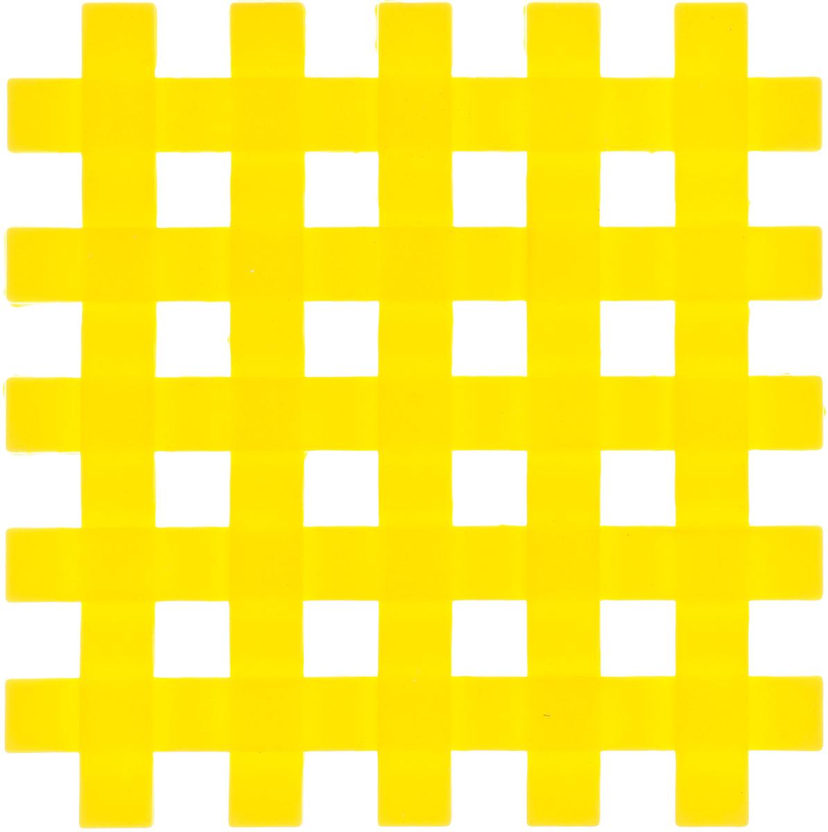 Подставка под горячее Mayer & Boch, силиконовая, цвет: желтый, 17 х 17 см20059_желтыйПодставка под горячее Mayer & Boch изготовлена из силикона и оформлена в виде сетки. Материал позволяет выдерживать высокие температуры и не скользит по поверхности стола.Каждая хозяйка знает, что подставка под горячее - это незаменимый и очень полезный аксессуар на каждой кухне. Ваш стол будет не только украшен яркой и оригинальной подставкой, но также вы сможете уберечь его от воздействия высоких температур.