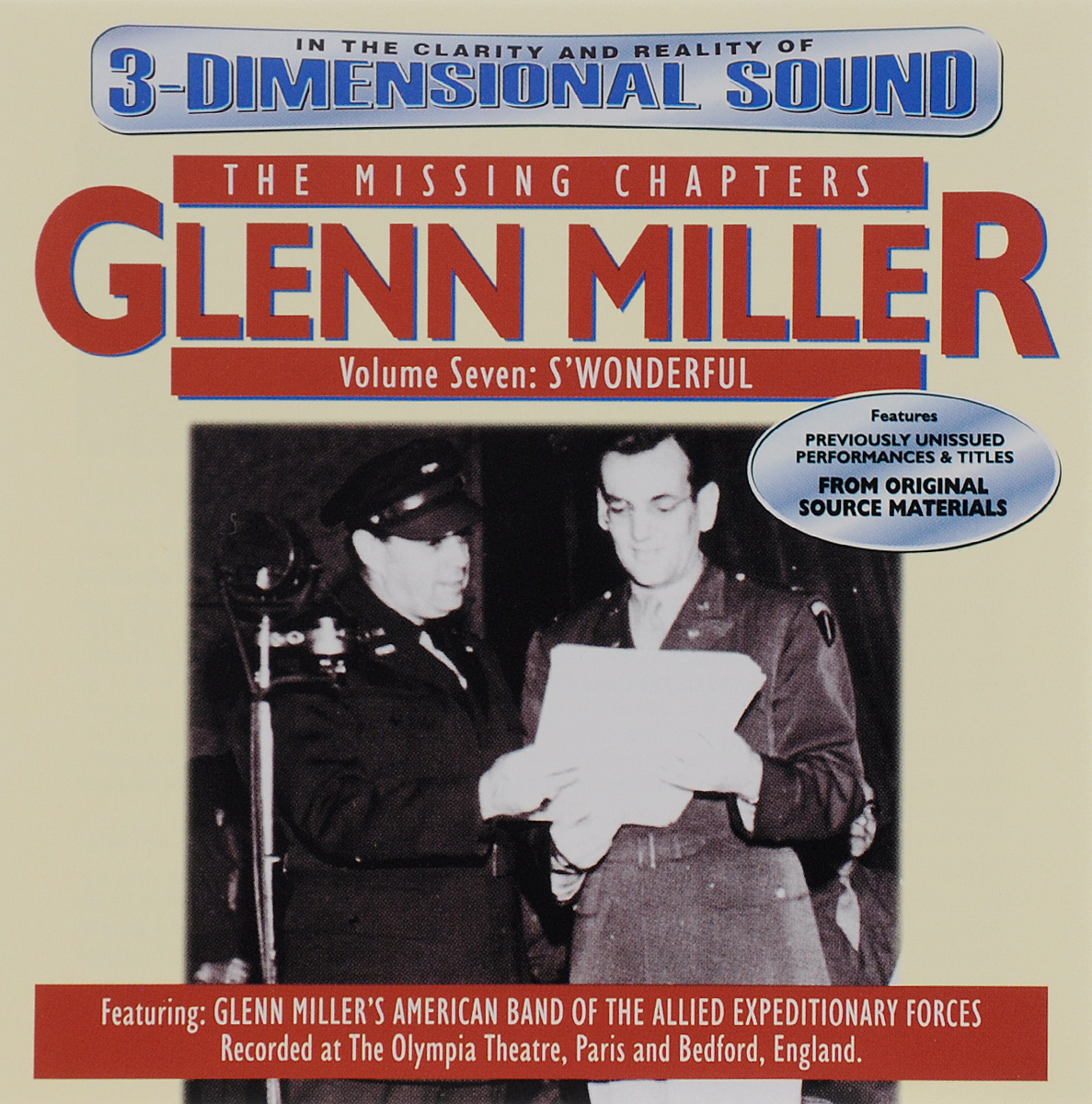 Гленн Миллер Glenn Miller. The Missing Chapters. Volume 7. S'Wonderful beibehang european style film and television damascus wallpaper 3d luxury living room tv bedroom 3d wallpaper papel de parede