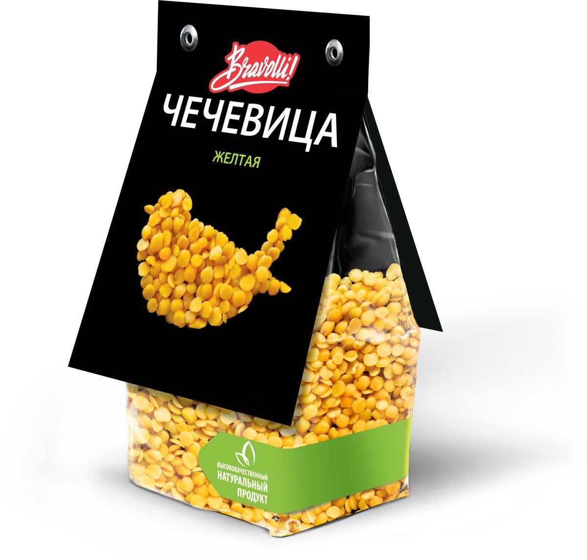Bravolli Чечевица желтая, 350 г мистраль чечевица зеленая мелкая онтарио 450 г