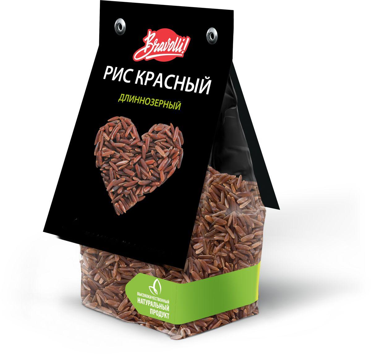 Bravolli Рис красный длиннозерный, 350 г bravolli жасмин рис 500 г