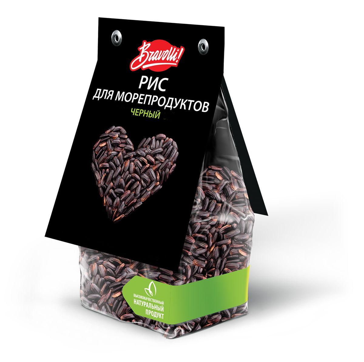 Bravolli Рис для морепродуктов черный, 350 г rosenfellner muhle органический рис басмати 500 г