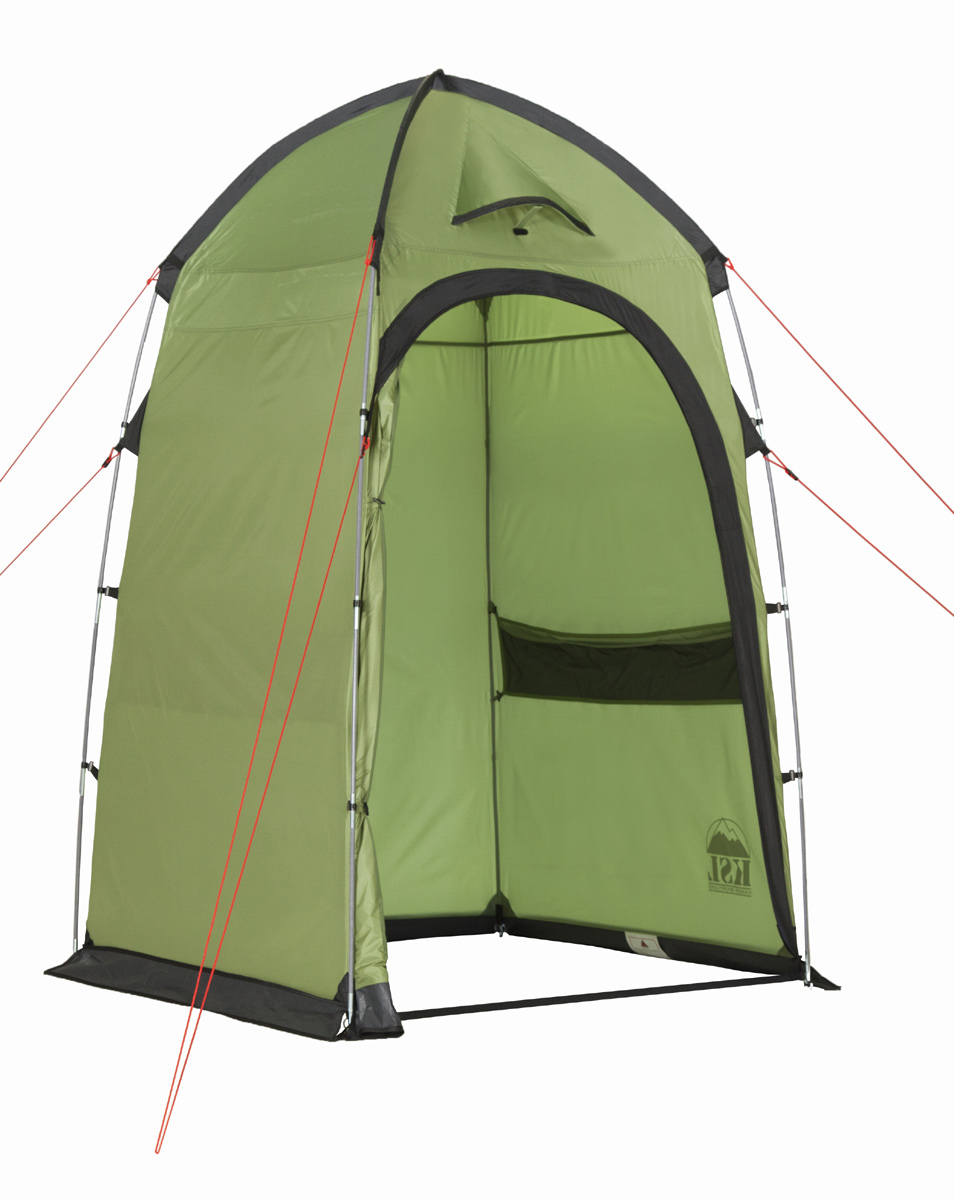 Палатка KSL Sanitary zone6159.0401Палатка-шатер для организации душа или туалета SANITARY ZONE - вещь первой необходимости для продолжительного отдыха на природе или длительного туристического похода, особенно большой компанией. Устанавливается шатер с помощью перекрестных дуг, по периметру оснащен ветрозащитным пологом. Шатер обладает эффективной вентиляционной системой, состоящей из двух окон, расположенных сверху купола, оборудованных ветровыми клапанами. Также шатер дополнительно вентилируется с помощью большой двери, застегивающейся на крепкую молнию с замком. Благодаря этому в шатре не скапливается влага и сырость после принятия душа. Высота шатра позволяет с комфортом принять душ человеку высокого роста, не испытывая при этом никаких неудобств. Тент шатра имеет хорошую сопротивляемость и водоотталкивающие свойства, швы дополнительно обработаны термоусадочной лентой и проклеены таким образом, чтобы шатер имела максимальную защиту от дождя и сквозняка. Дополнительное удобство дарит множество карманов на стенках палатки. В них вы можете разместить гигиенические принадлежности, не заботясь, каждый раз об их наличии, перед тем как отправиться в душ. Вес: 2,8 кг. Количество мест: 1. Сезонность: лето. Размер: 120 x 120 x 195 см. Размер в чехле: 17 x 46 см. Материал тента: Polyester 190T PU 2500 mm. Материал дна: нет. Внутренняя палатка: нет. Материал дуг: Durapol 9.5 mm. Ветроустойчивость: низкая. Количество входов: 1. Область применения: кемпинг.Пропитка, задерживающая распространение огня. Швы герметизированы термоусадочной лентой. Узлы палатки, испытывающие высокие нагрузки, усилены более прочной тканью. Край тента обшит прочной стропой. Эффективная система вентиляции состоит из двух вентиляционных окон с ветровыми клапанами, расположенных в верхней точке купола. Ветрозащитный полог по периметру палатки. Цвет: зеленый. Материал: Polyester 190T PU.