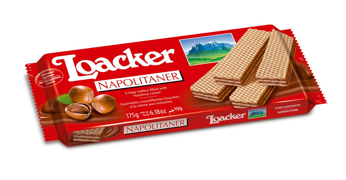 Loacker Наполитанер вафли, 175 г брянконфи сливочные вафли 220 г