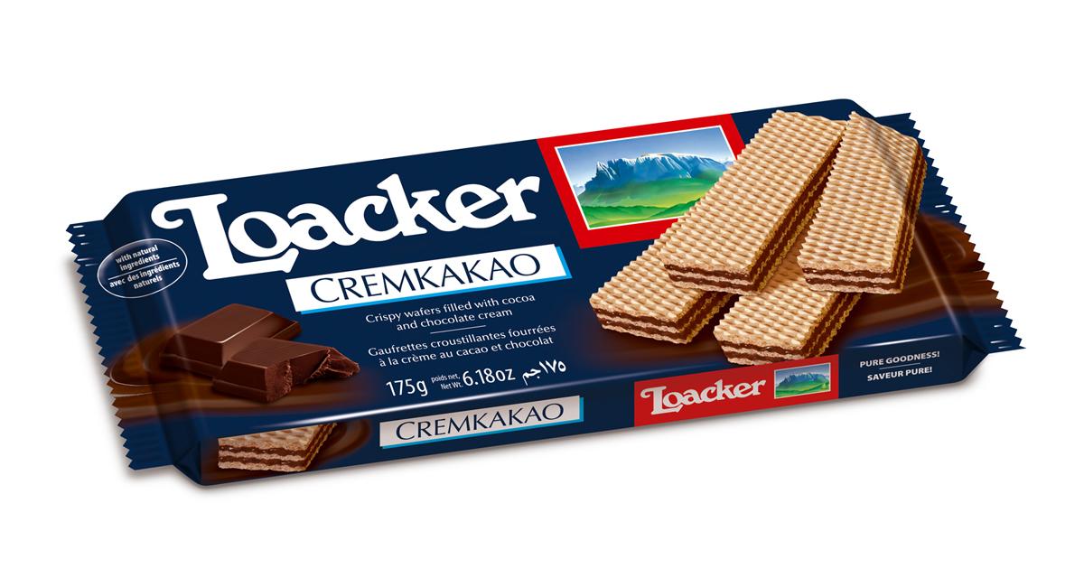 Loacker Крем-какао вафли, 175 г брянконфи сливочные вафли 220 г