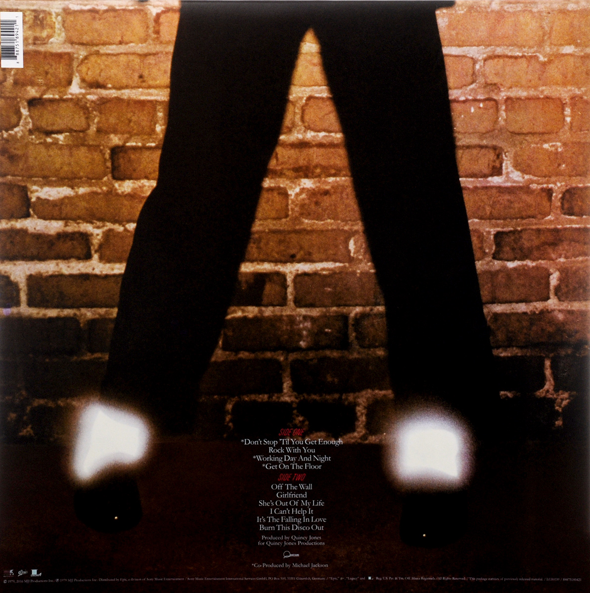 Michael Jackson.  Off The Wall (LP) Warner Music,MJJ Production Inc.