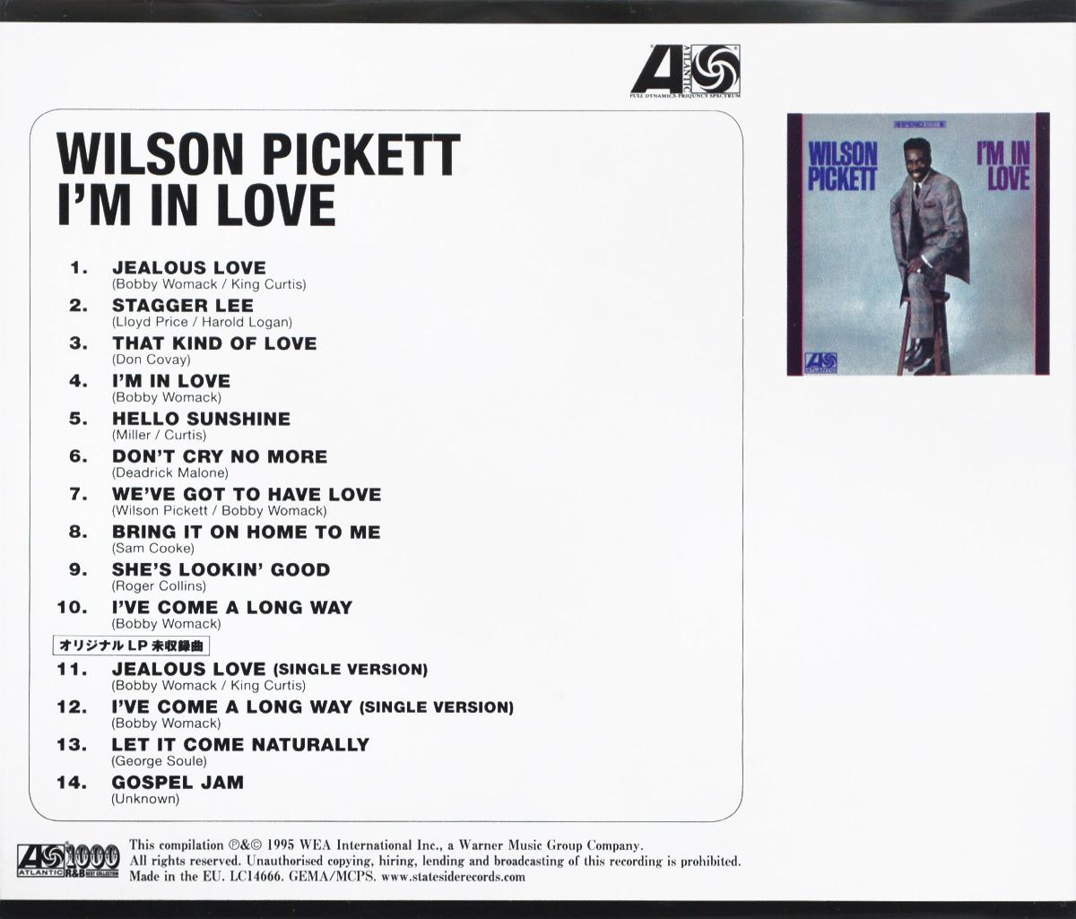 Wilson Pickett.  I'm In Love Warner Music,Wea International Inc.