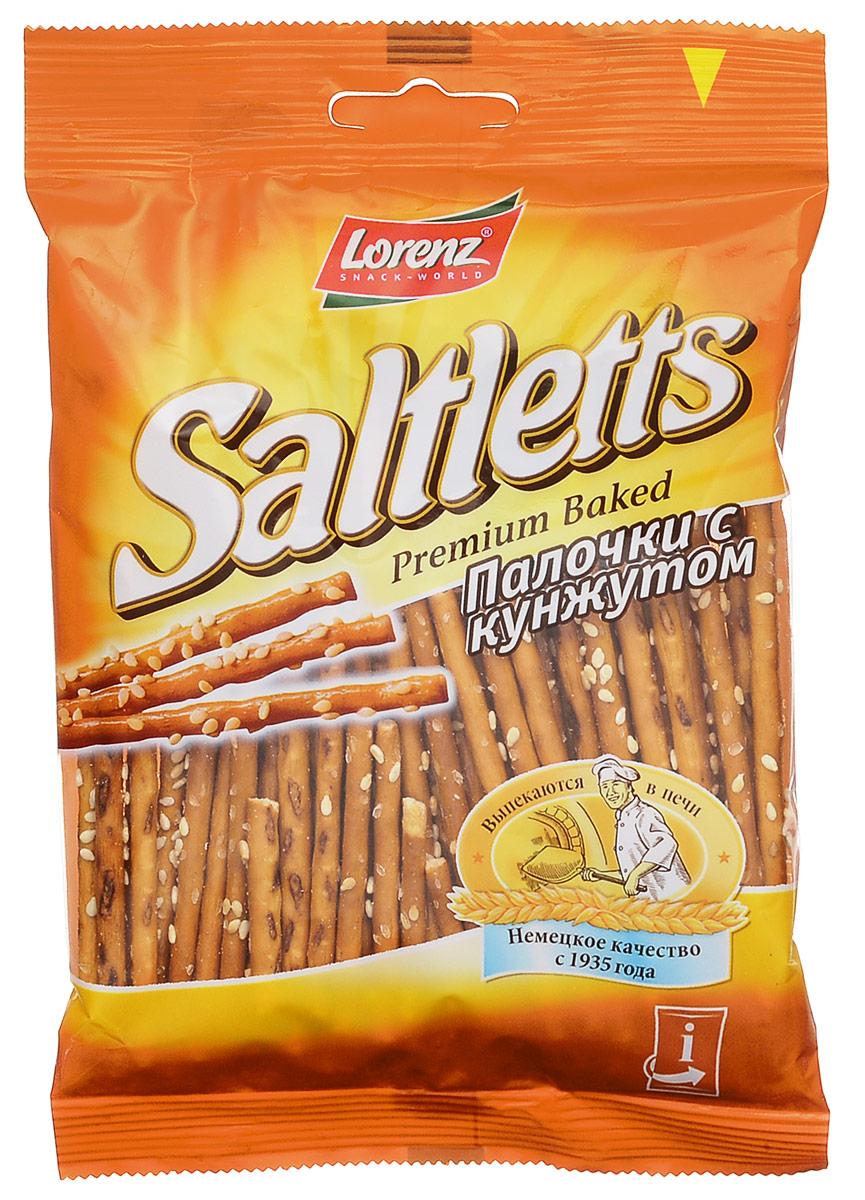 Lorenz Saltletts палочки с кунжутом, 60 гбзе054Палочки Saltletts, обсыпанные обжаренным кунжутом - это интересная альтернатива традиционной соленой соломке. Палочки Lorenz Saltletts уже давно являются бесспорной классикой на немецком рынке. Хрустящая соломка золотисто-коричневого цвета радует потребителей с 1935 года. Снэки приготовлены из лучших ингредиентов и приправлены натуральной морской солью.