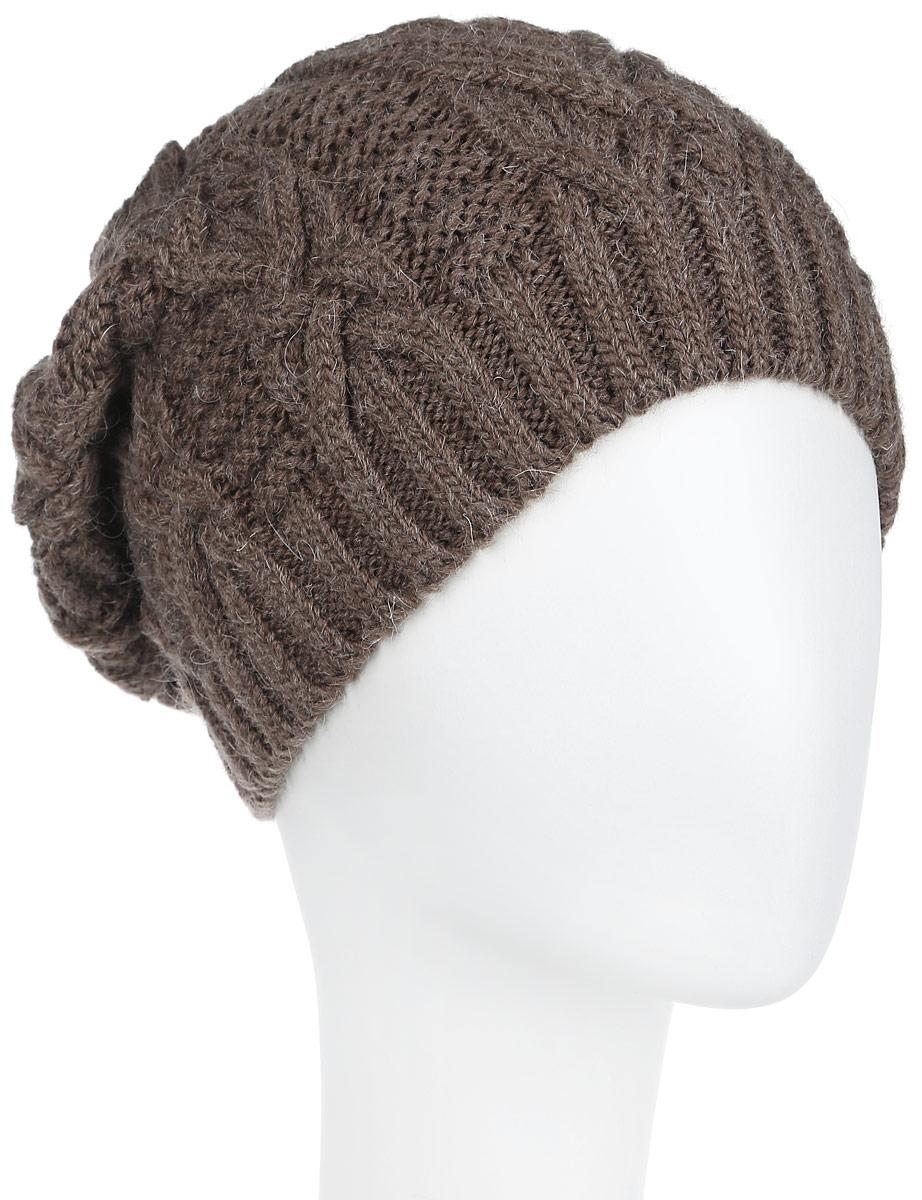 Шапка женская Flioraj, цвет: кофейный. 2-042-267. Размер 582-042_267Вязаная женская шапка Flioraj станет идеальным дополнением к вашему образу в холодную погоду. Изделие выполнено из высококачественной шерсти в сочетании с акрилом, приятное на ощупь, максимально сохраняет тепло. Благодаря эластичной вязке, модель идеально прилегает к голове. Оформлено изделие вязаным узором. Край шапки связан резинкой.Такой стильный и теплый аксессуар подчеркнет вашу индивидуальность! Шапка надежно защитит от холода и создаст ощущение комфорта. Уважаемые клиенты!Размер, доступный для заказа, является