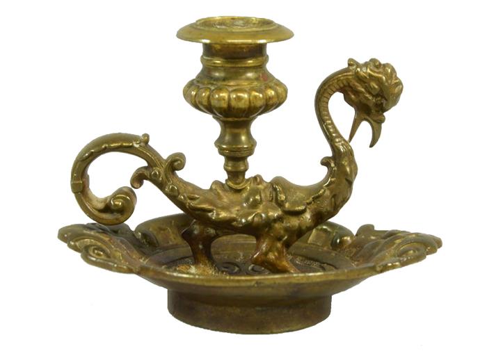 Подсвечник Василиск. Бронза, литье. Германия, 1880-1890 гг. подсвечник ваза d13 см х 20 см