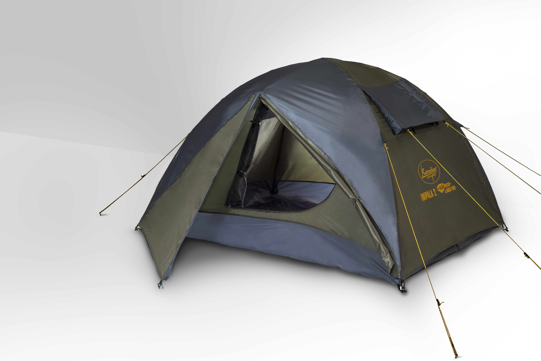 Палатка Campus Impala 2, цвет: зеленый, серый
