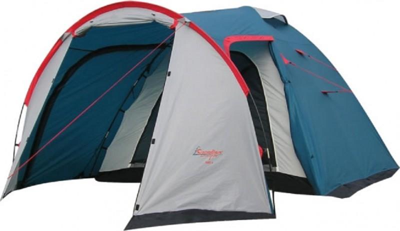 Палатка Canadian Camper Rino 4, цвет: серый, синий, красный палатки кемпинговые горные hewolf eg 1652 3 4