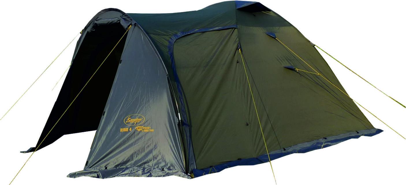 Палатка Canadian Camper RINO 4, цвет: зеленый, серый