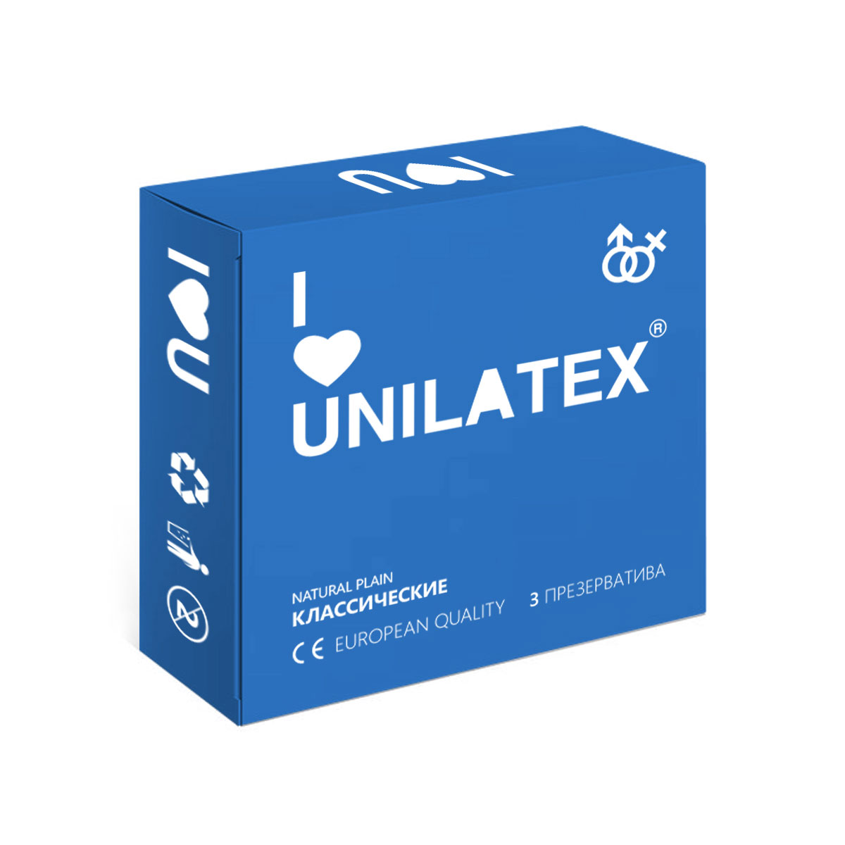 Презервативы Unilatex Natural Plain, 3 шт тэдди lace and wet look teddy размер xl xxl