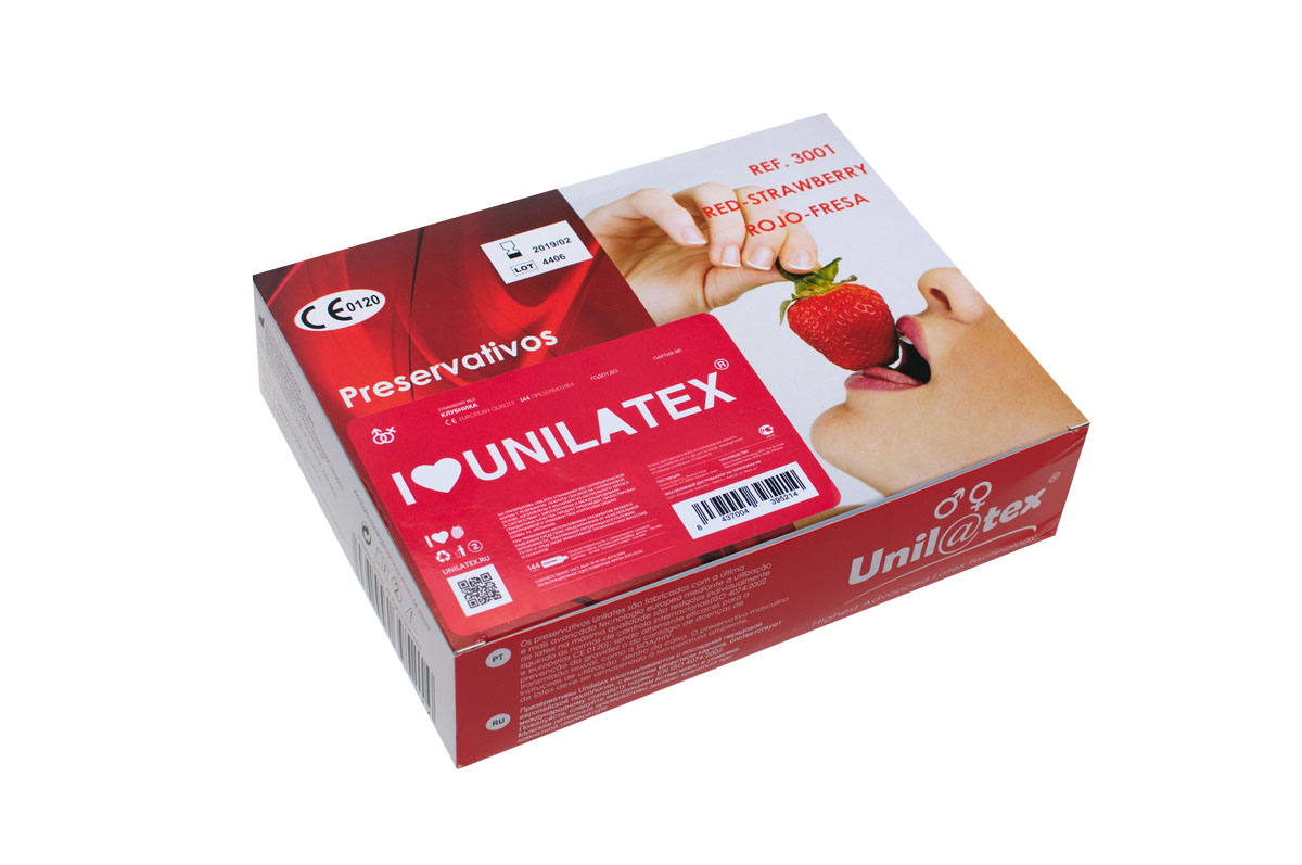 Презервативы Unilatex Red Strawberry, 144 шт aneros progasm red