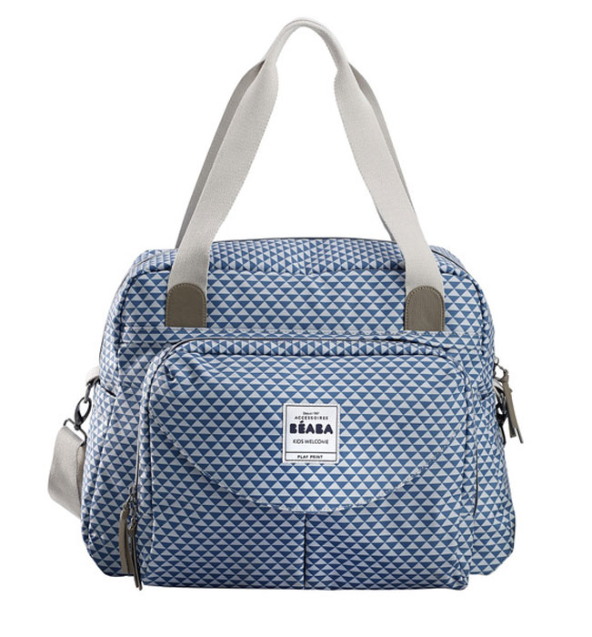 Beaba Сумка для мамы Changing Bag Geneva Ii цвет голубой белый