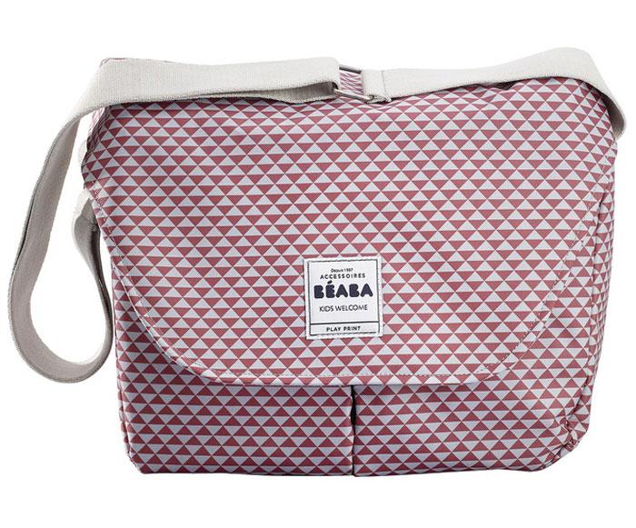 Beaba Сумка для мамы Changing Bag Vienna Ii цвет розовый белый