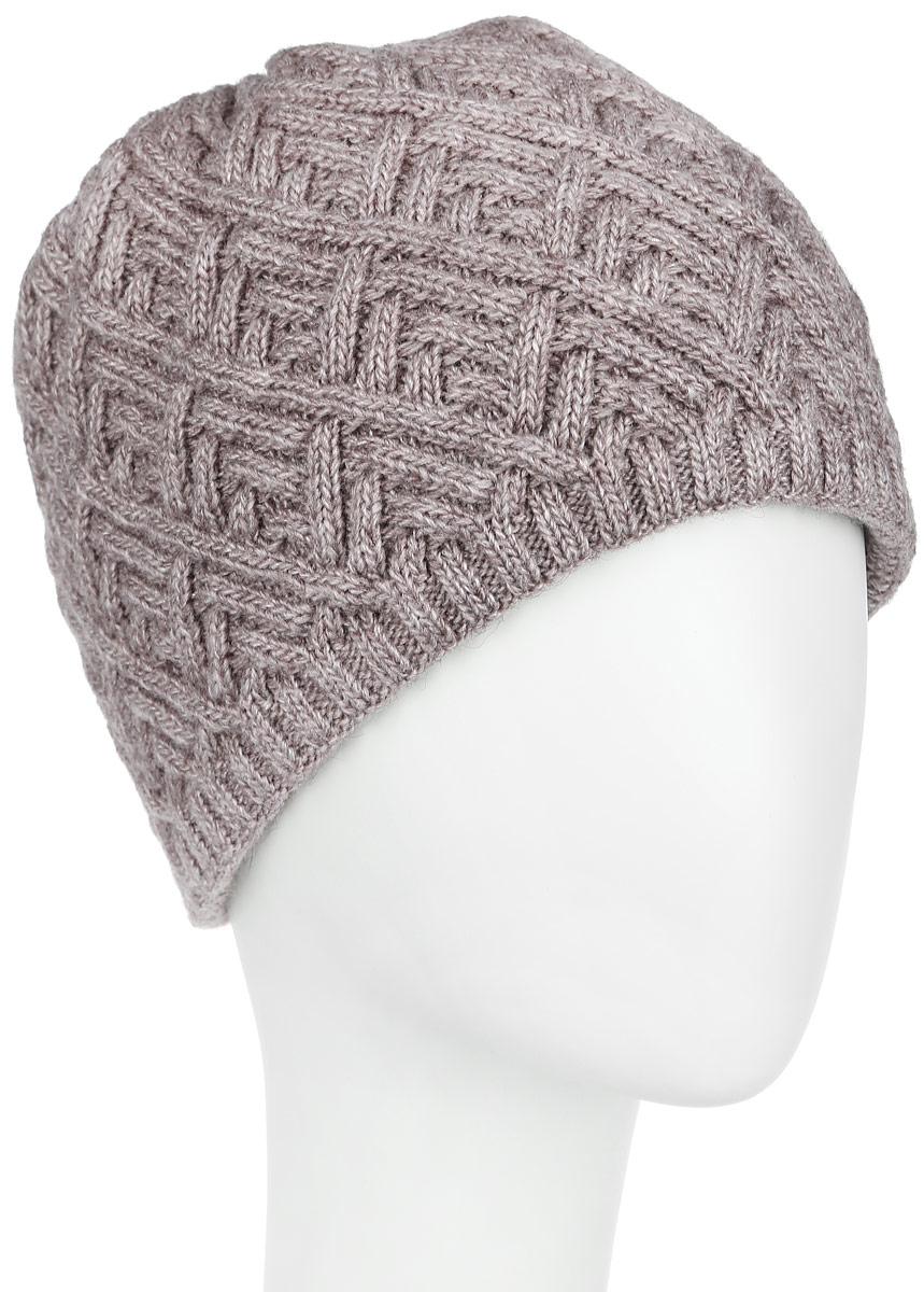 Шапка женская Flioraj, цвет: бежевый. 3-018-008м. Размер 583-018_008мСтильная женская шапка Flioraj с фактурной вязкой дополнит ваш образ в холодную погоду. Модель выполнена из высококачественной шерсти в сочетании с акрилом, мягкая и приятная на ощупь. Шапочка двойная, идеально прилегает к голове, надежно защищая от ветра и мороза.Край шапки связан резинкой средней ширины. Изделие оформлено декоративным вязаным узором.Такой теплый аксессуар подчеркнет вашу женственность и неповторимость, а также защитит от холода и создаст ощущение комфорта. Уважаемые клиенты!Размер, доступный для заказа, является обхватом головы.