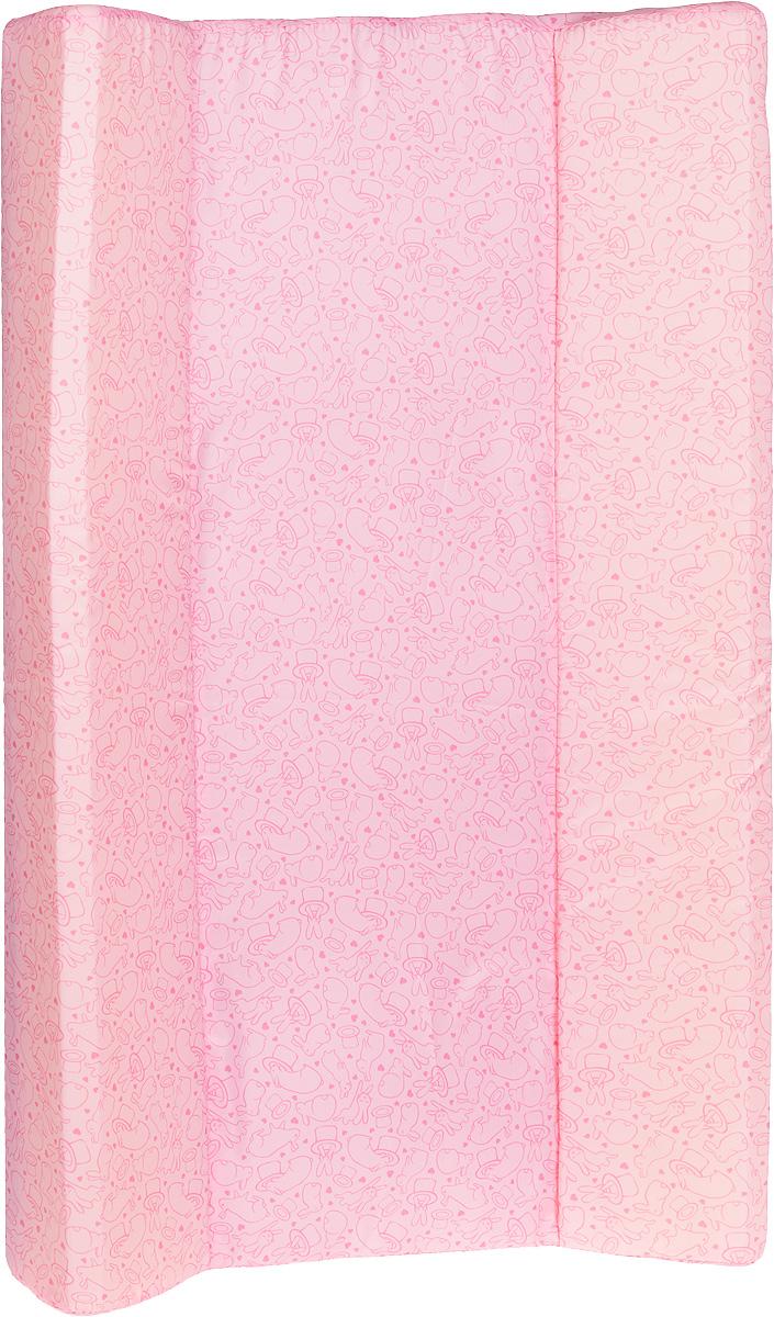 Фея Доска пеленальная Параллель Виниллайт Кролики цвет розовый