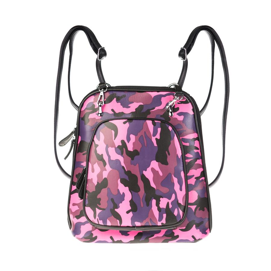 Рюкзак женский Orsa Oro, цвет: черный, фуксия. D-134/39 сумка женская orsa oro цвет черный d 123 46