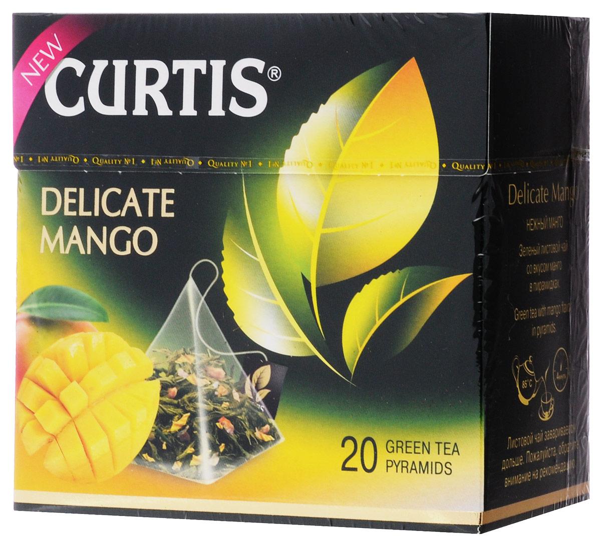Curtis Delicate Mango зеленый чай в пирамидках, 20 шт delicate love de019ewpcm83 delicate love